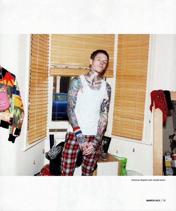 Ross Tanner In 'MODERN ENG£ISH' For INKED Magazine March