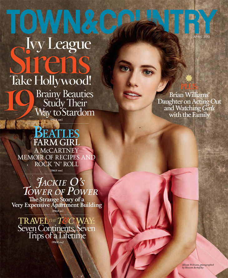 Girls' Allison Williams for Town & Country Magazine-2
