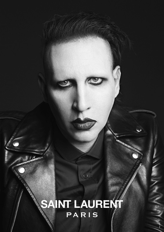 Saint Laurent Music Project with Marilyn Manson