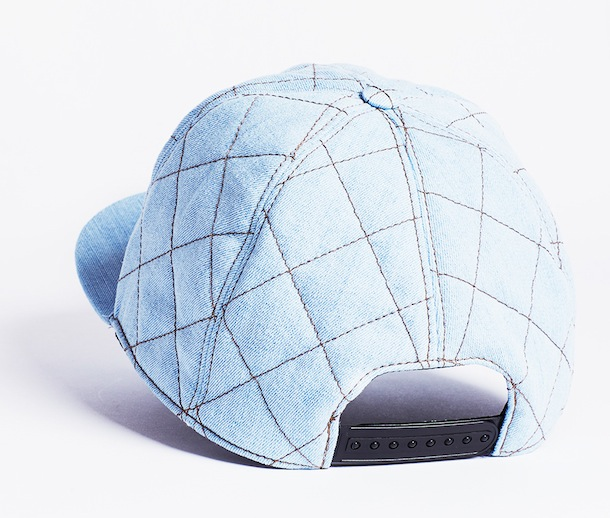Moschino Quilted Denim Embellished Cap-2