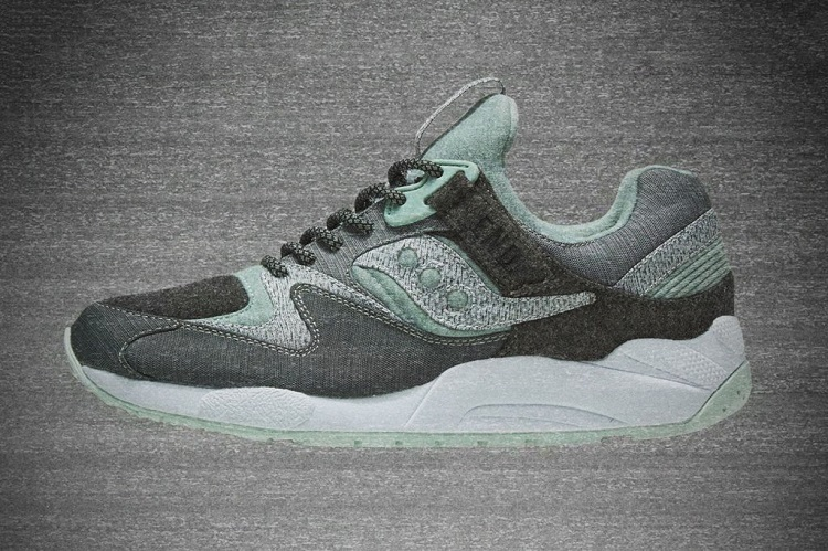 9d2e56ad830f END. x Saucony  WHITE NOISE  Grid 9000