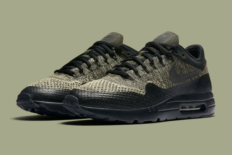 factory price fd287 aa495 The Nike Air Max 1 Ultra Flyknit Goes Olive  Sidewalk Hustle