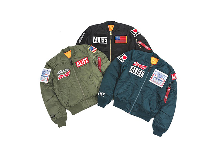 ALIFE and Alpha Industries Release A Limited Edition MA-1 Patch Jacket  a31a39d9bc81