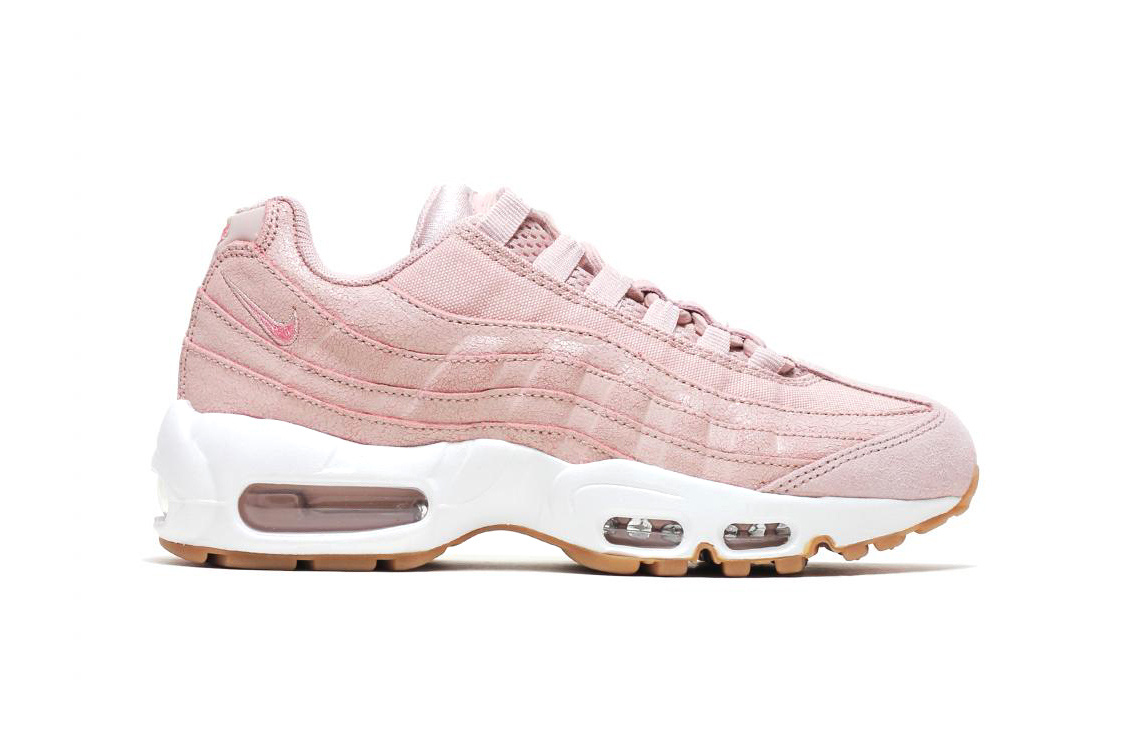 ee025e6c0462f6 Nike Air Max 95 Premium Baby Blue and Pink
