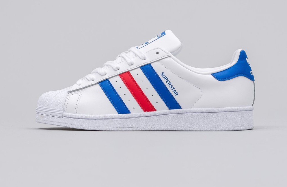 the latest 8015d 7a0f6 adidas White, Red and Blue Superstar   Sidewalk Hustle